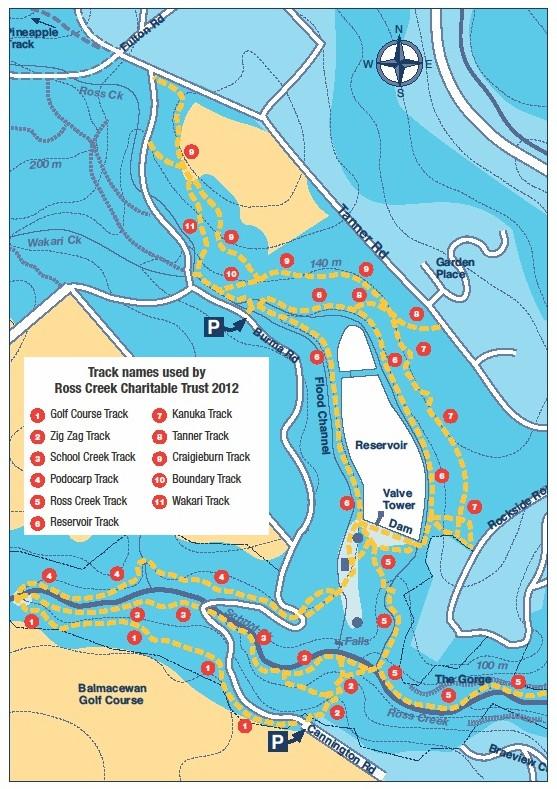Track map of Ross Creek The Dunedin Amenities Society