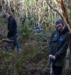 Students enjoying the bush