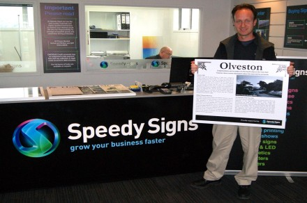 Adam Cullen from Speedy Signs