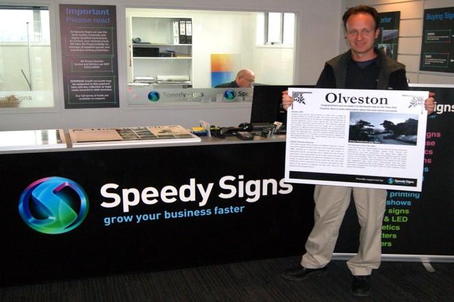 Adam Cullen from Speedy Signs