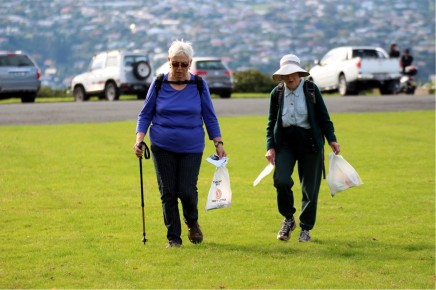 They walked and picked up rubbish!