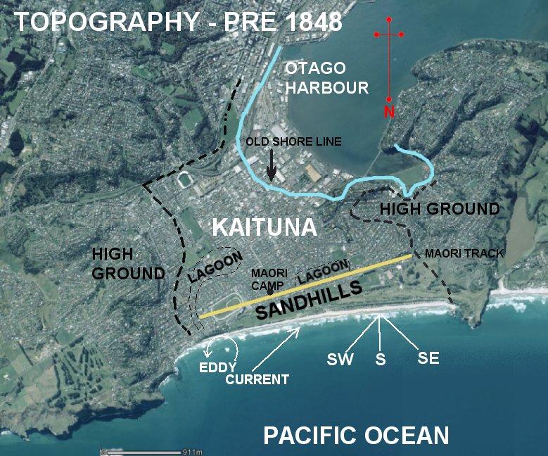 The pre 1848 topography of Ocean Beach Domain