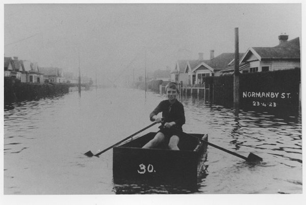 "Flooding on the ""flat"" of St Kilda Borough was not uncommon."