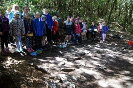 The group reveal the stone floor
